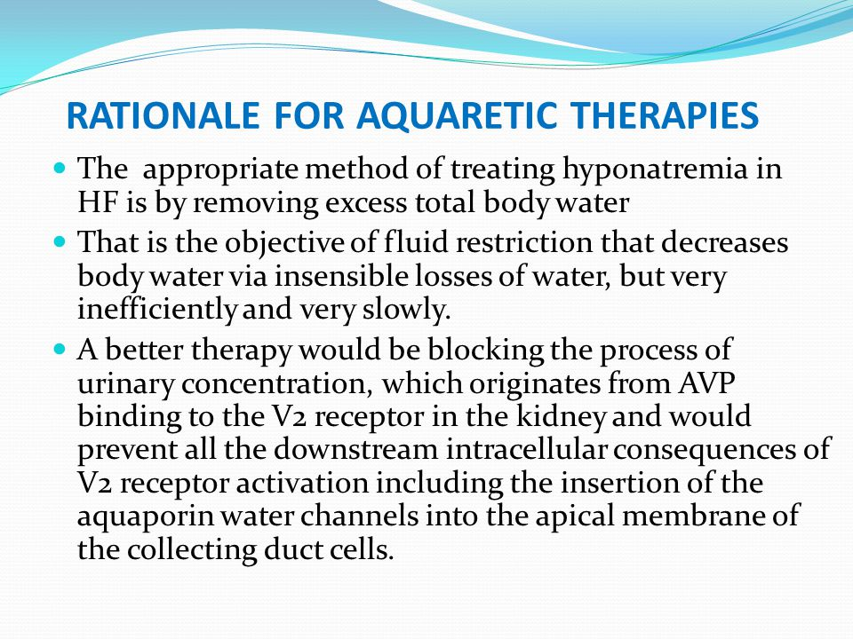 rationale for aquaretic therapies