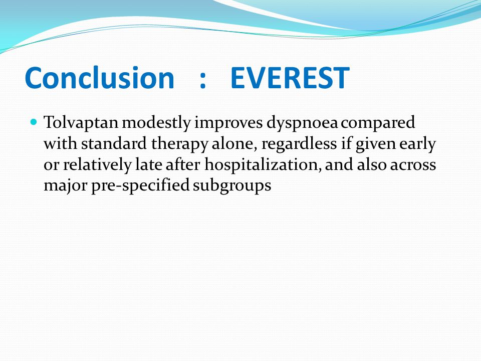Conclusion : EVEREST