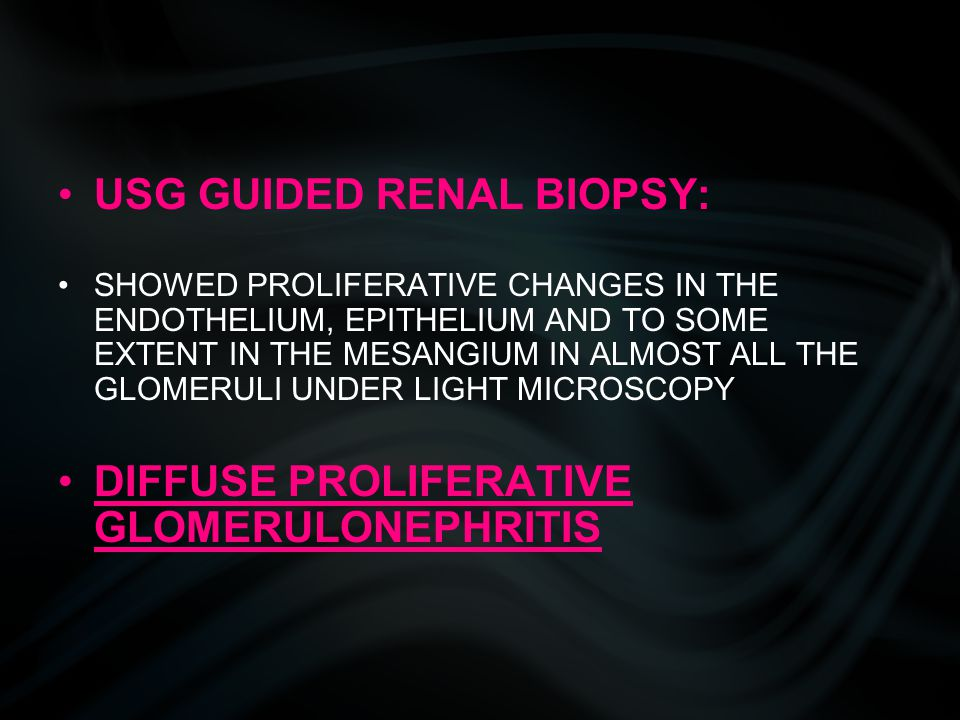 USG GUIDED RENAL BIOPSY: