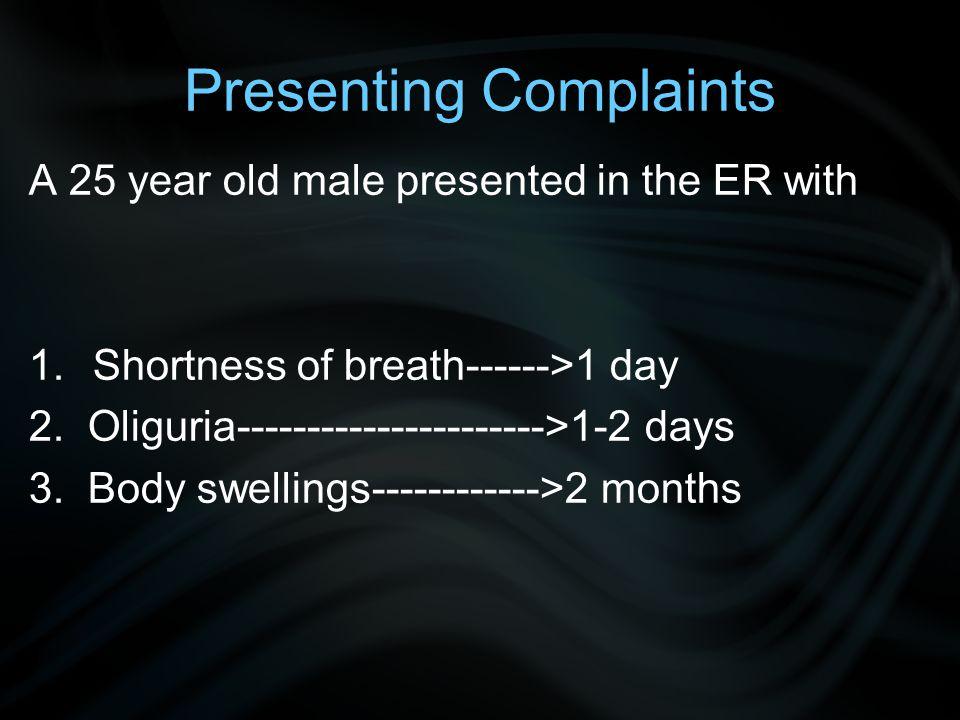 Presenting Complaints