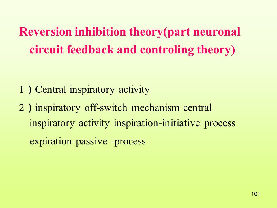 Reversion inhibition theory(part neuronal circuit feedback and controling theory)