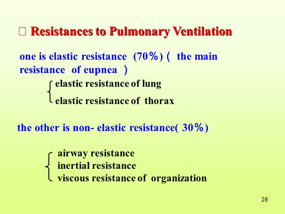 Ⅱ Resistances to Pulmonary Ventilation