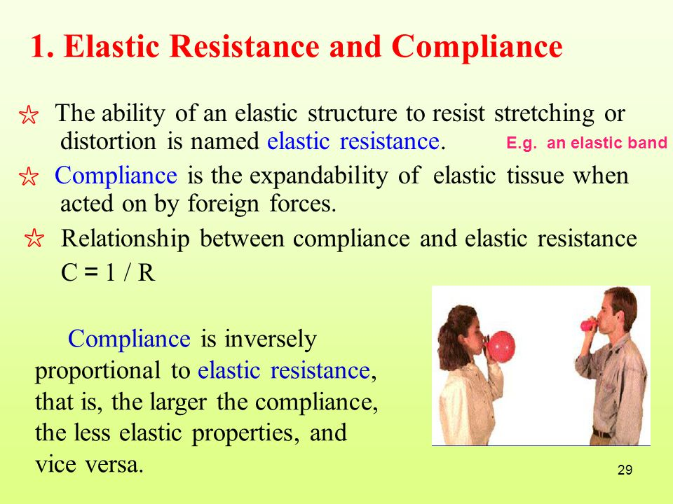 1. Elastic Resistance and Compliance