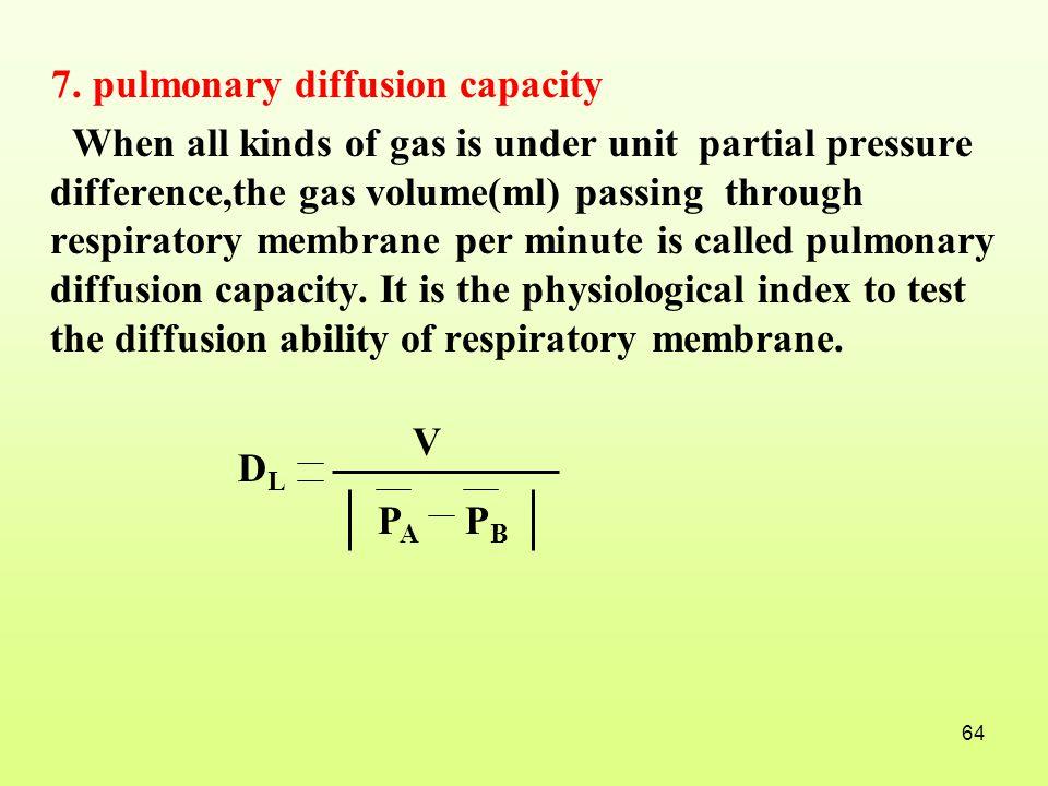 7. pulmonary diffusion capacity