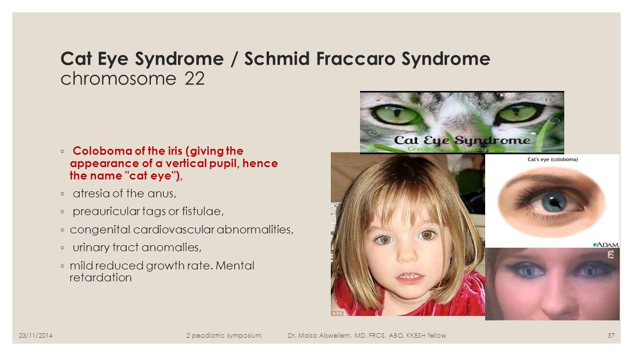 Cat Eye Syndrome / Schmid Fraccaro Syndrome chromosome 22