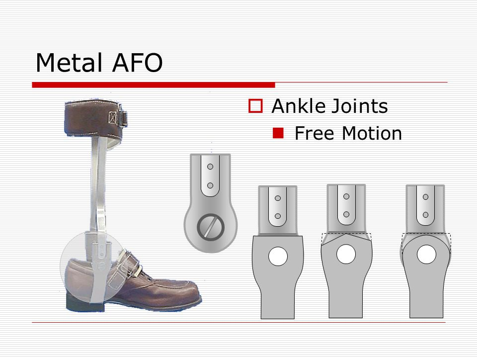 Metal AFO Ankle Joints Free Motion