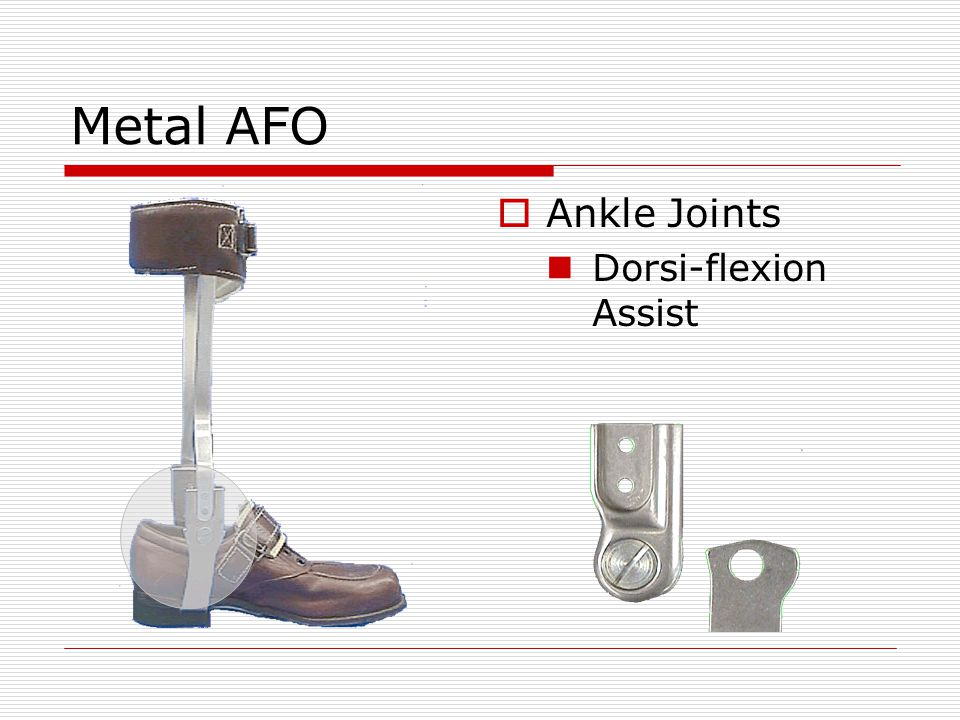Metal AFO Ankle Joints Dorsi-flexion Assist