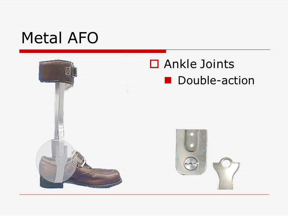Metal AFO Ankle Joints Double-action