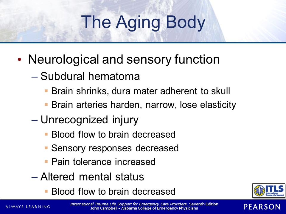 The Aging Body Thermoregulation Hypothermia Afebrile with infection