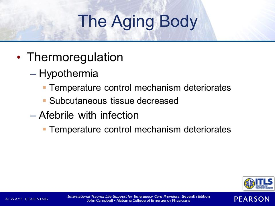 The Aging Body Renal system Immune system Drug toxicity Infection
