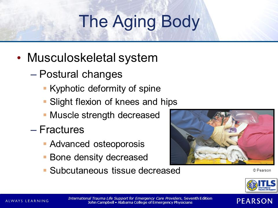 The Aging Body Gastrointestinal system Overall system changes