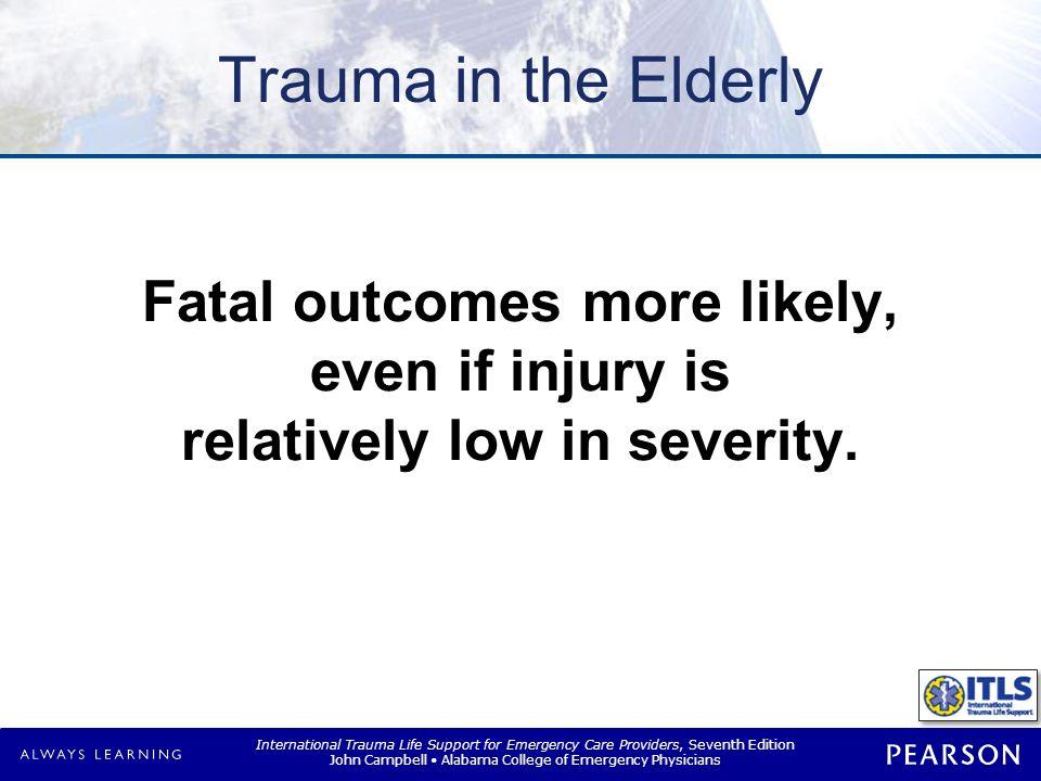 Trauma in Elderly Age impairs body s response