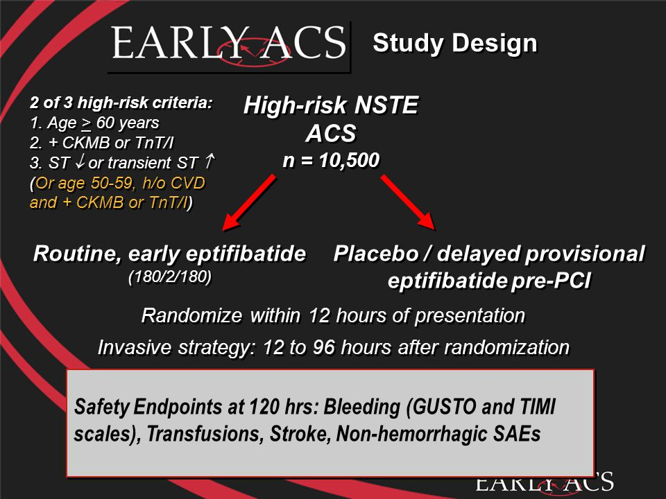 Placebo / delayed provisional eptifibatide pre-PCI