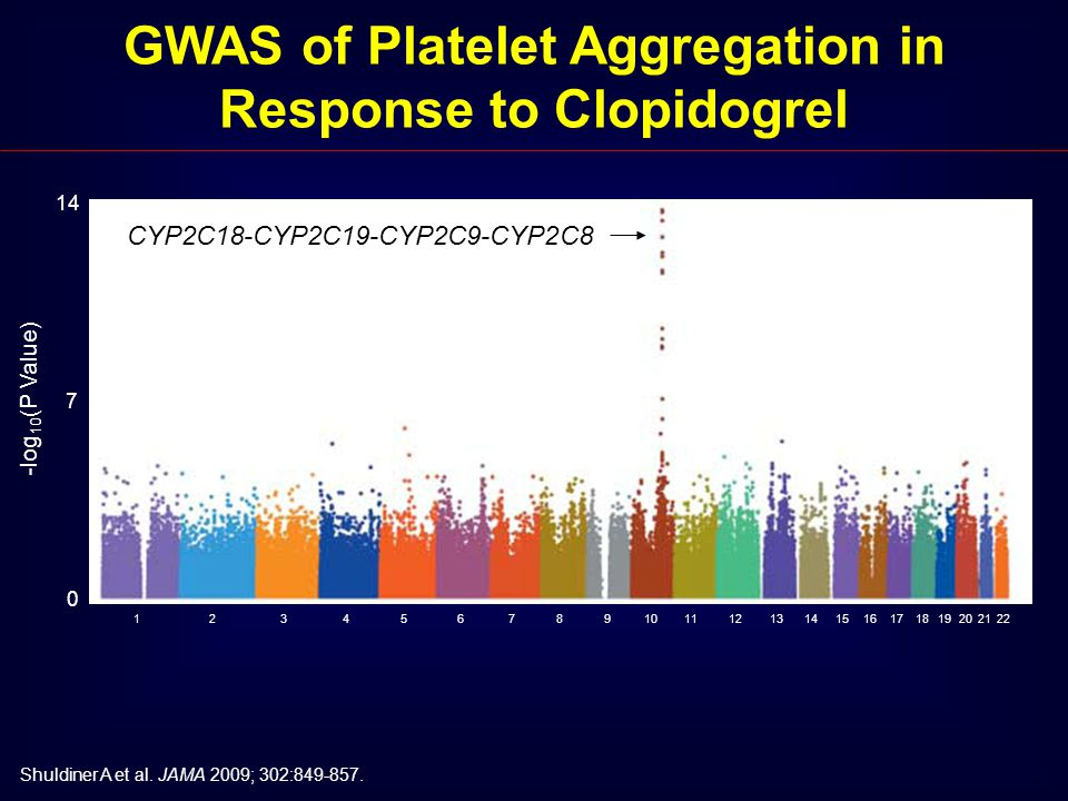 GWAS of Platelet Aggregation in Response to Clopidogrel