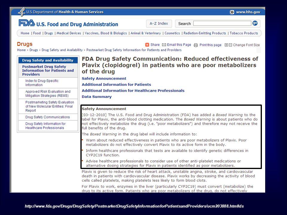 http://www.fda.gov/Drugs/DrugSafety/PostmarketDrugSafetyInformationforPatientsandProviders/ucm203888.htm#ds