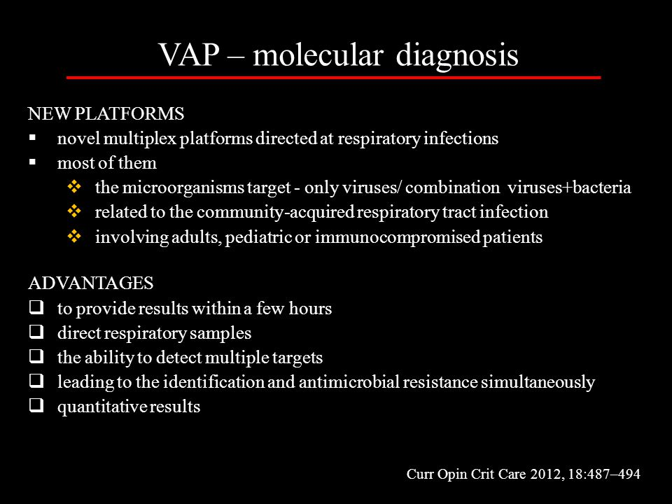 VAP – molecular diagnosis