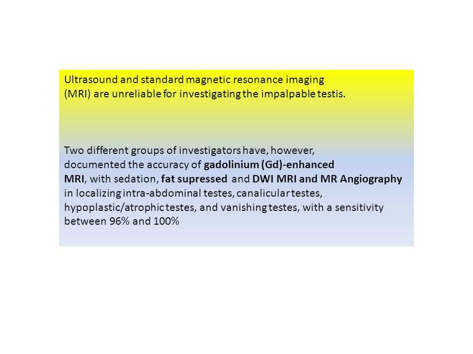 Ultrasound and standard magnetic resonance imaging