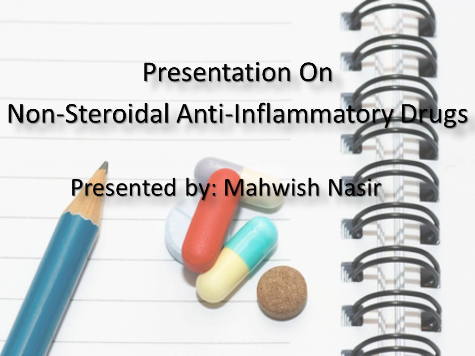 Presentation On Non-Steroidal Anti-Inflammatory Drugs