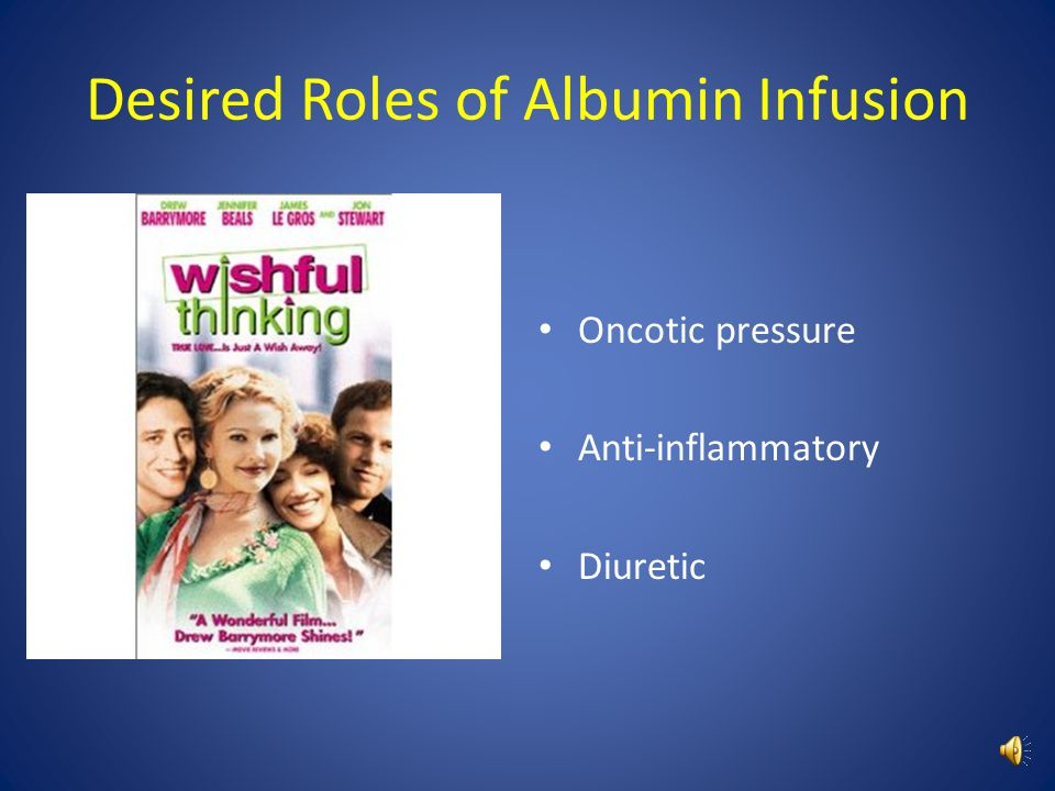 Desired Roles of Albumin Infusion