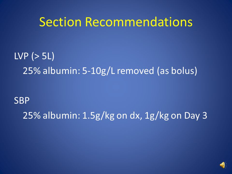 Section Recommendations