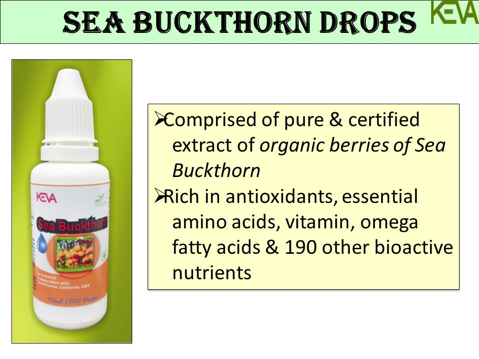 Sea Buckthorn Drops Comprised of pure & certified