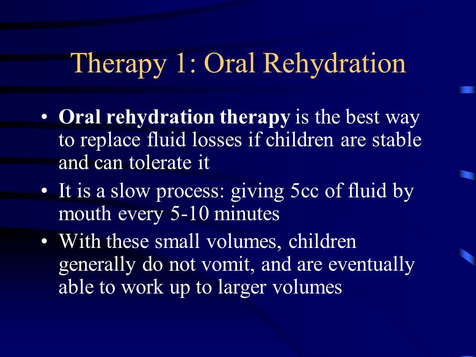 Therapy 1: Oral Rehydration