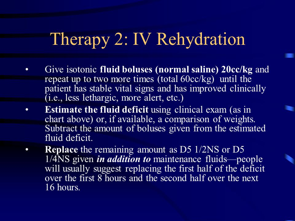 Therapy 2: IV Rehydration