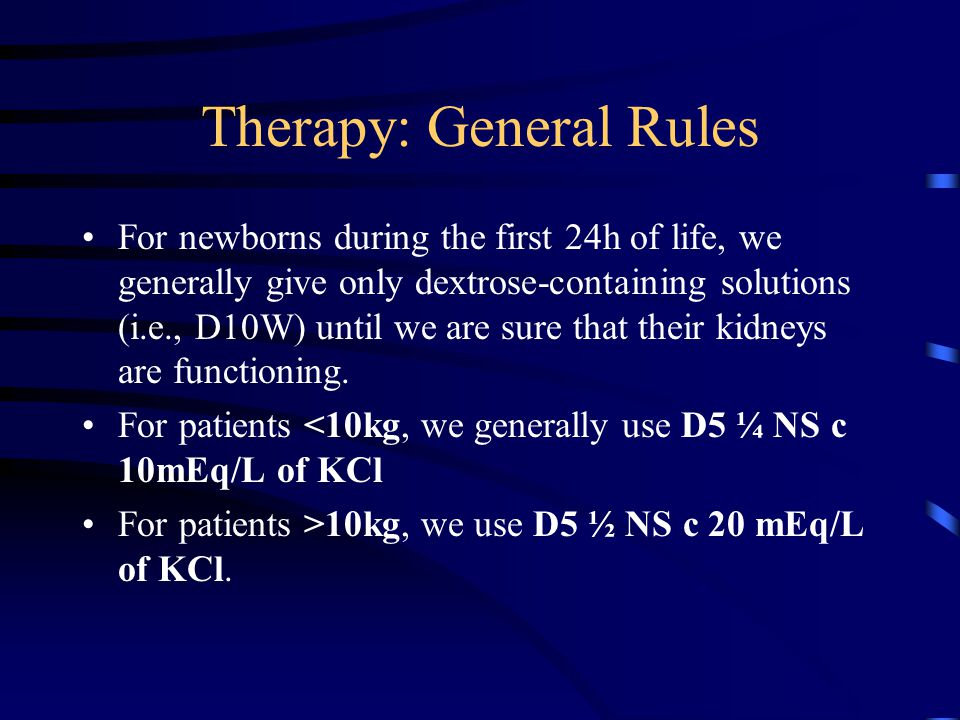 Therapy: General Rules