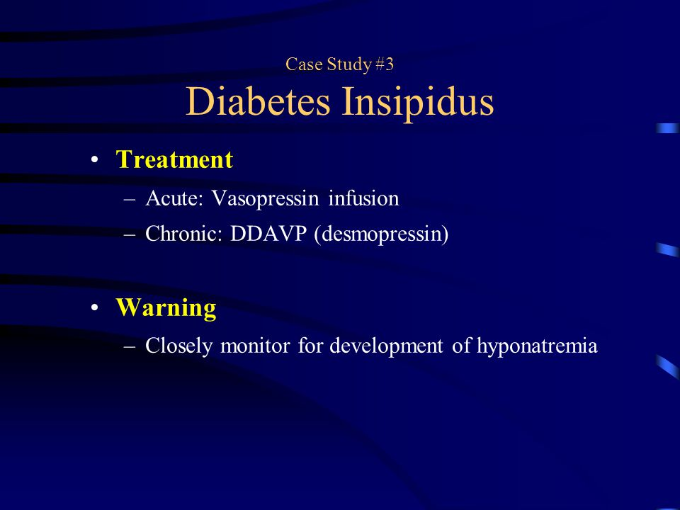nephrogenic diabetes insipidus case study There are two forms of di: central diabetes insipidus (cdi), due to a partial   conversely in nephrogenic di, exogenous administration of adh has no  of  diabetes insipidus10,11 some case-control studies have shown that.
