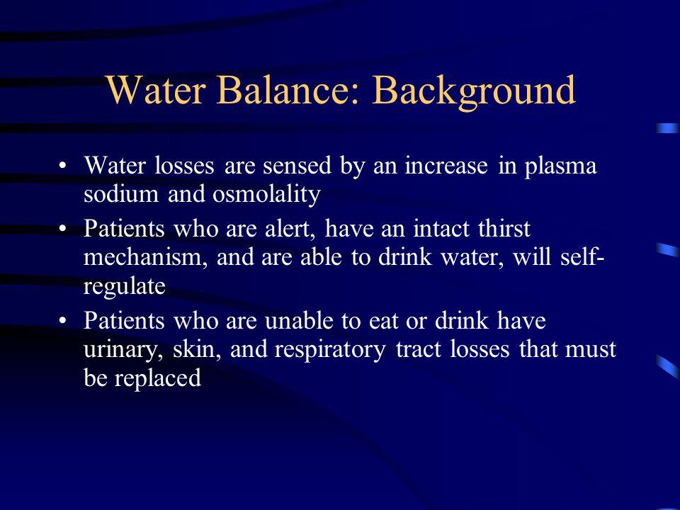 Water Balance: Background