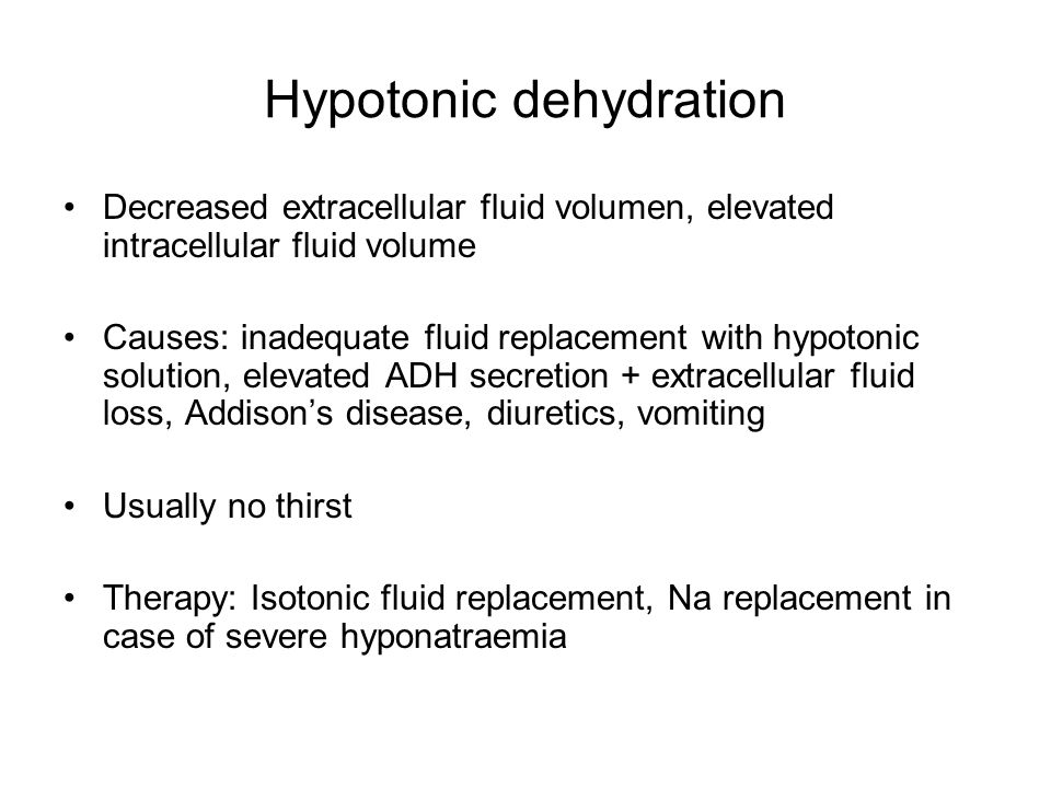 Hypotonic dehydration