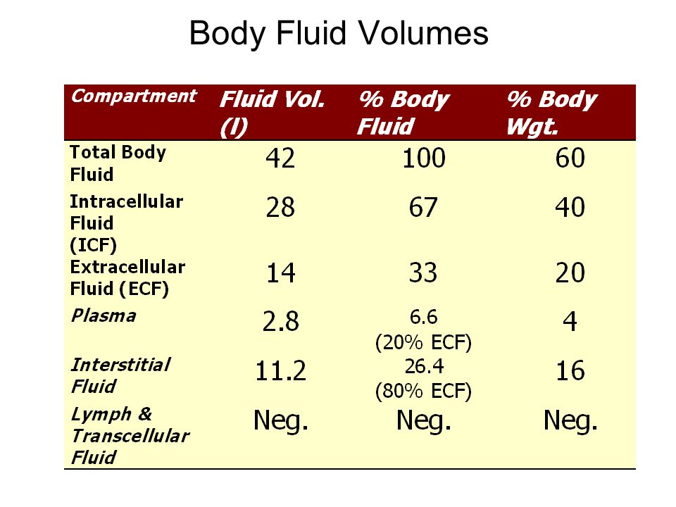 Body Fluid Volumes