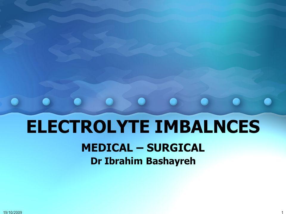 ELECTROLYTE IMBALNCES