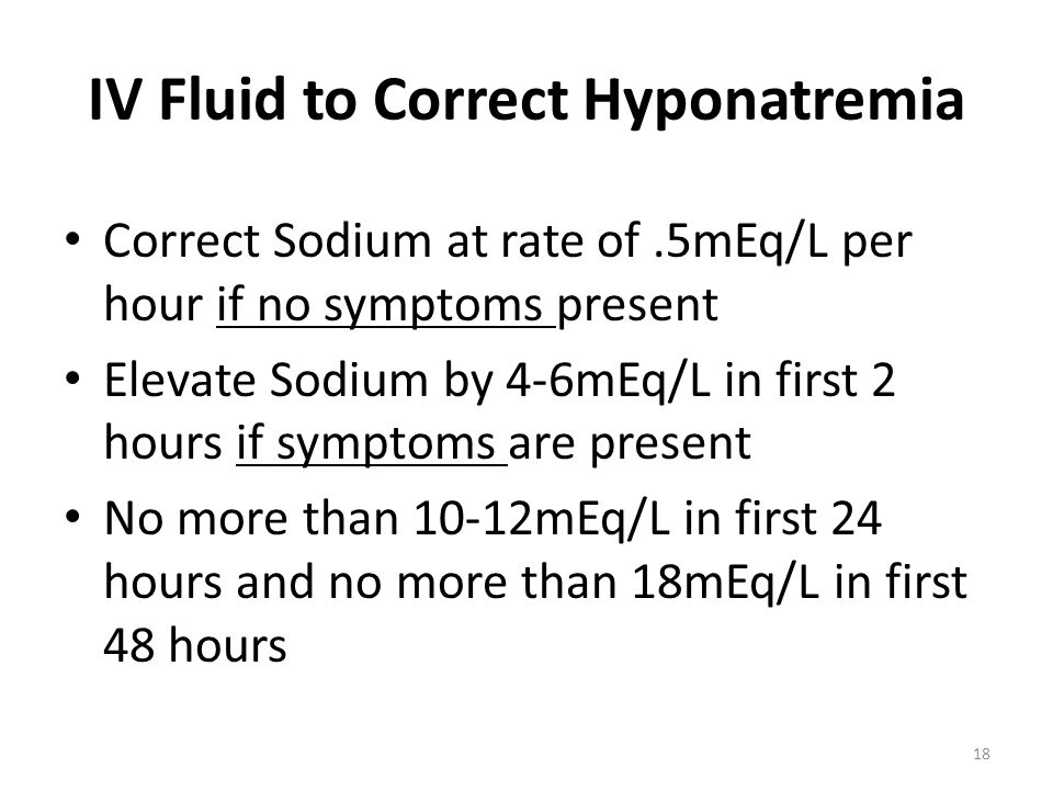IV Fluid to Correct Hyponatremia