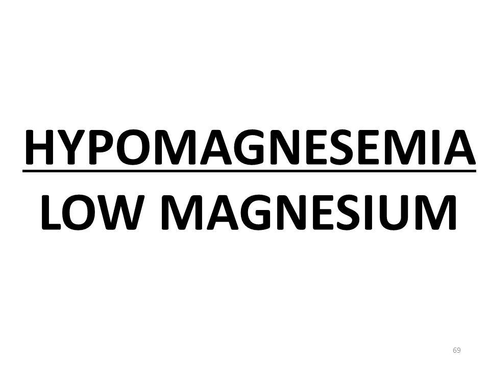 HYPOMAGNESEMIA LOW MAGNESIUM