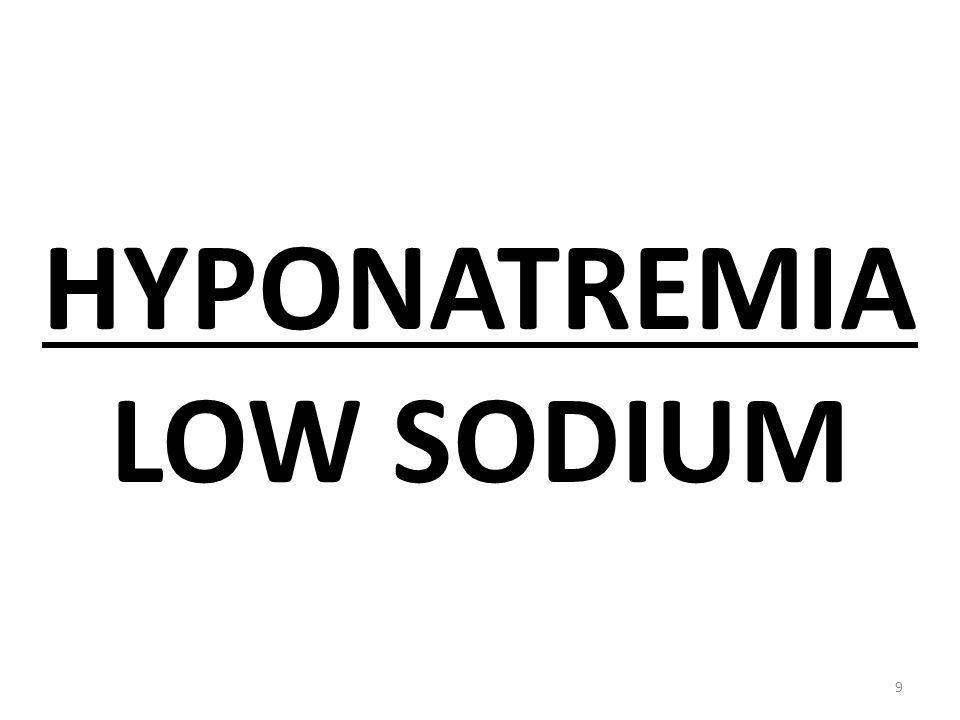 HYPONATREMIA LOW SODIUM