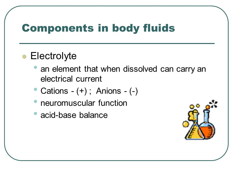Components in body fluids