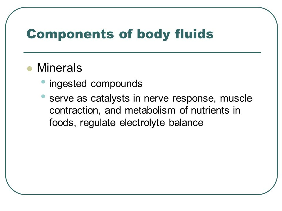 Components of body fluids