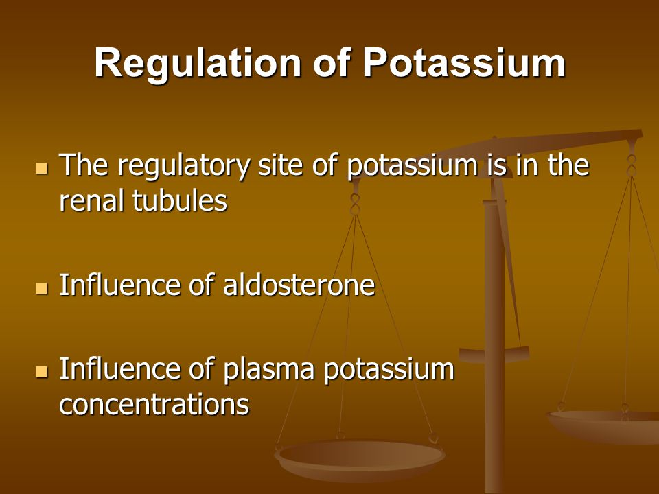 Regulation of Potassium