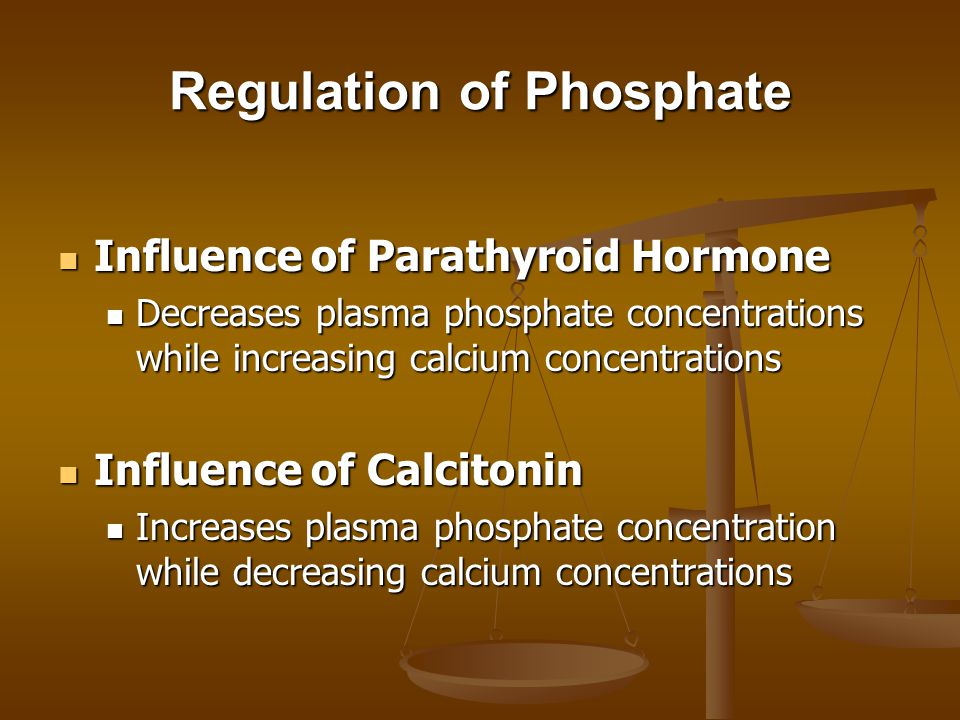 Regulation of Phosphate
