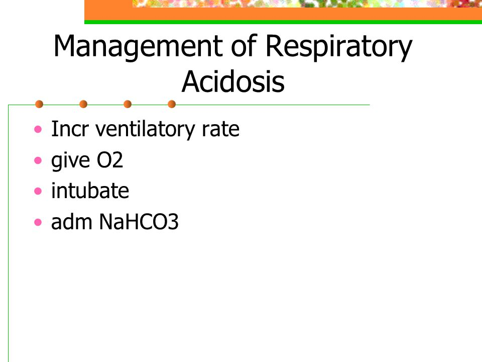 Management of Respiratory Acidosis