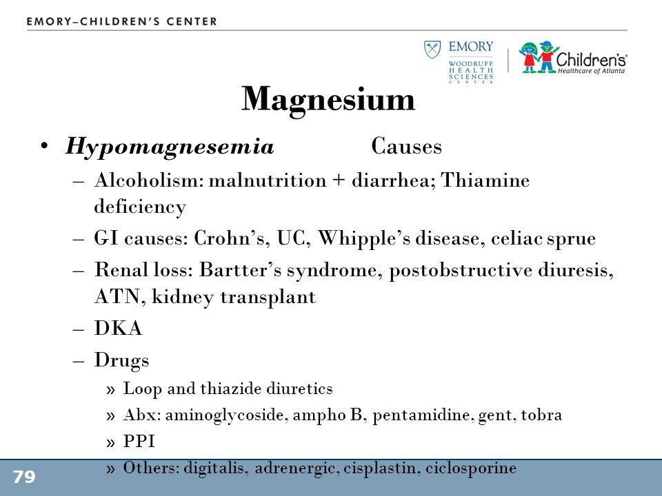 Magnesium Hypomagnesemia Causes