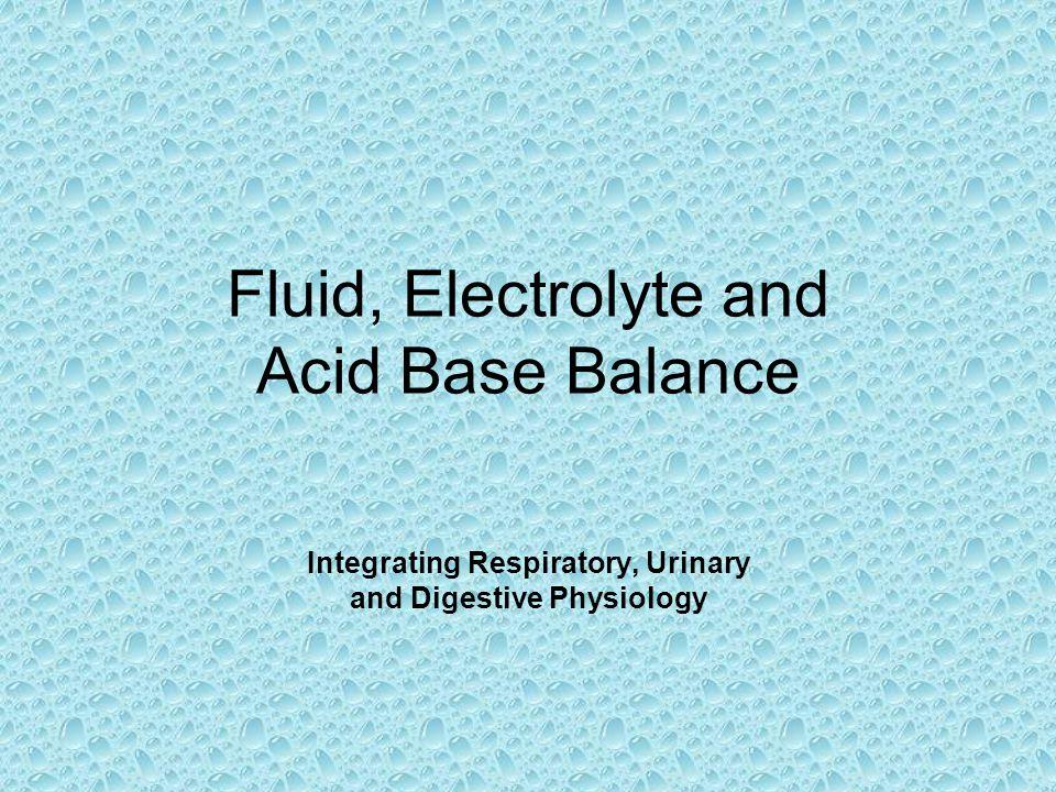 Fluid, Electrolyte and Acid Base Balance
