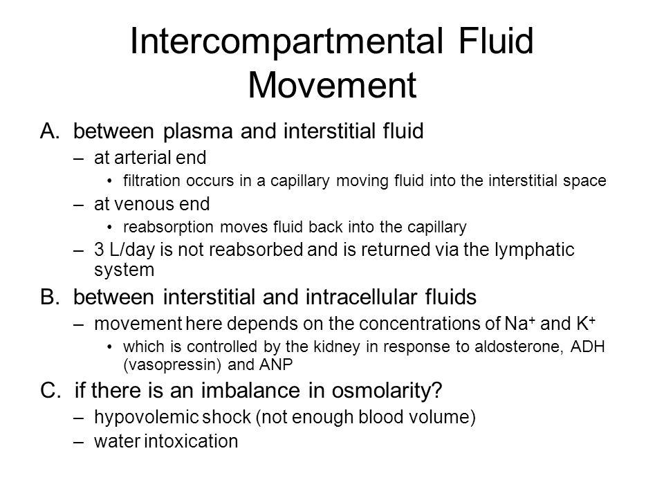 Intercompartmental Fluid Movement