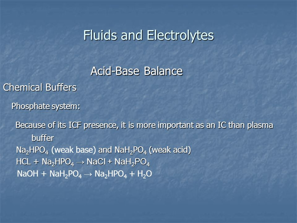 Fluids and Electrolytes