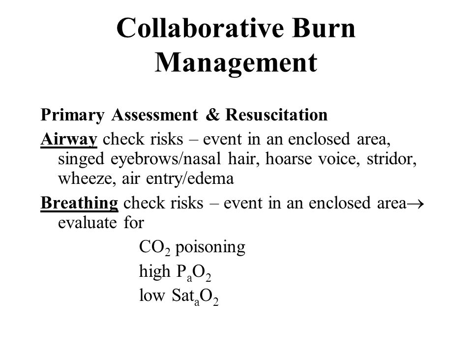 Collaborative Burn Management