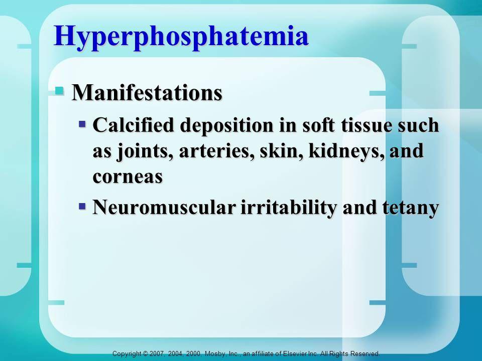 Hyperphosphatemia Manifestations