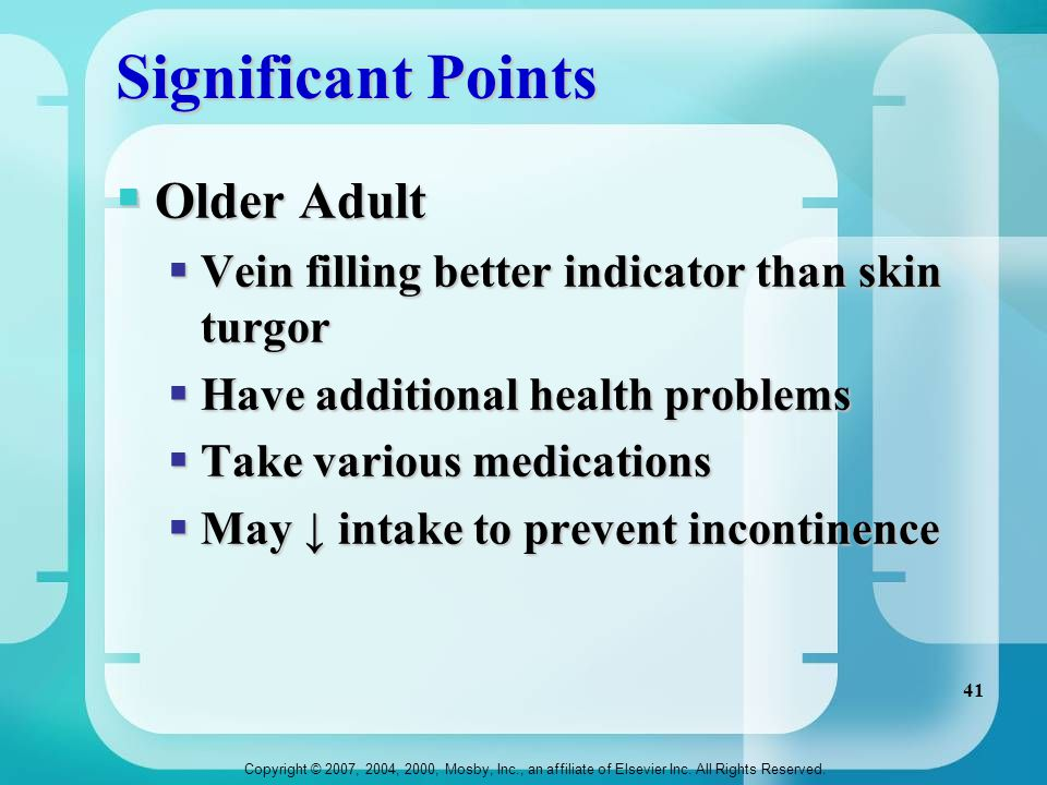 Significant Points Older Adult
