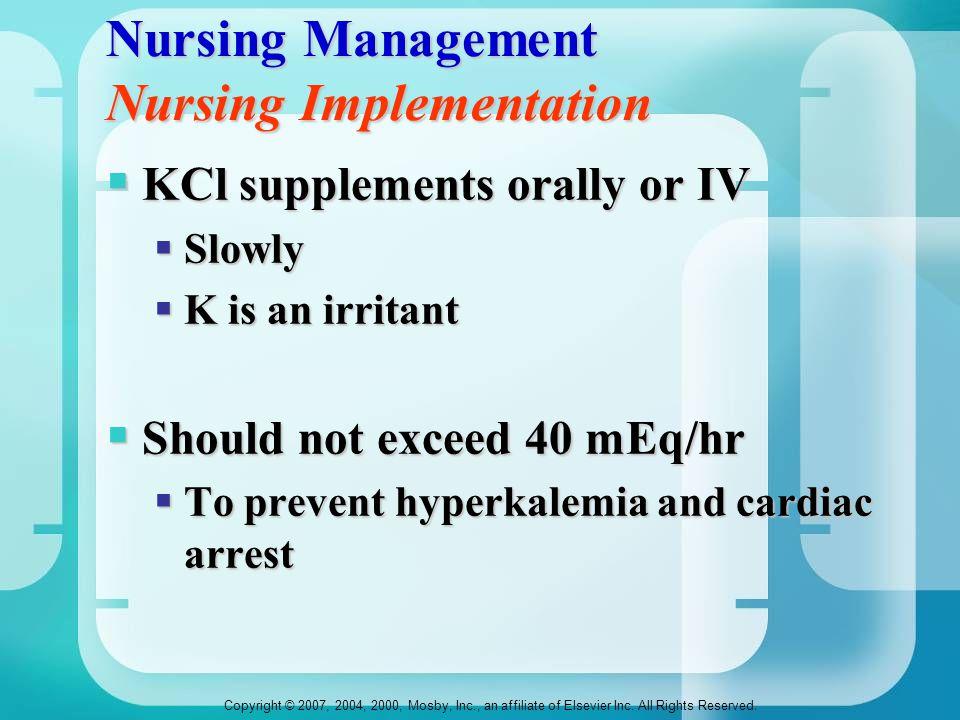 Nursing Management Nursing Implementation