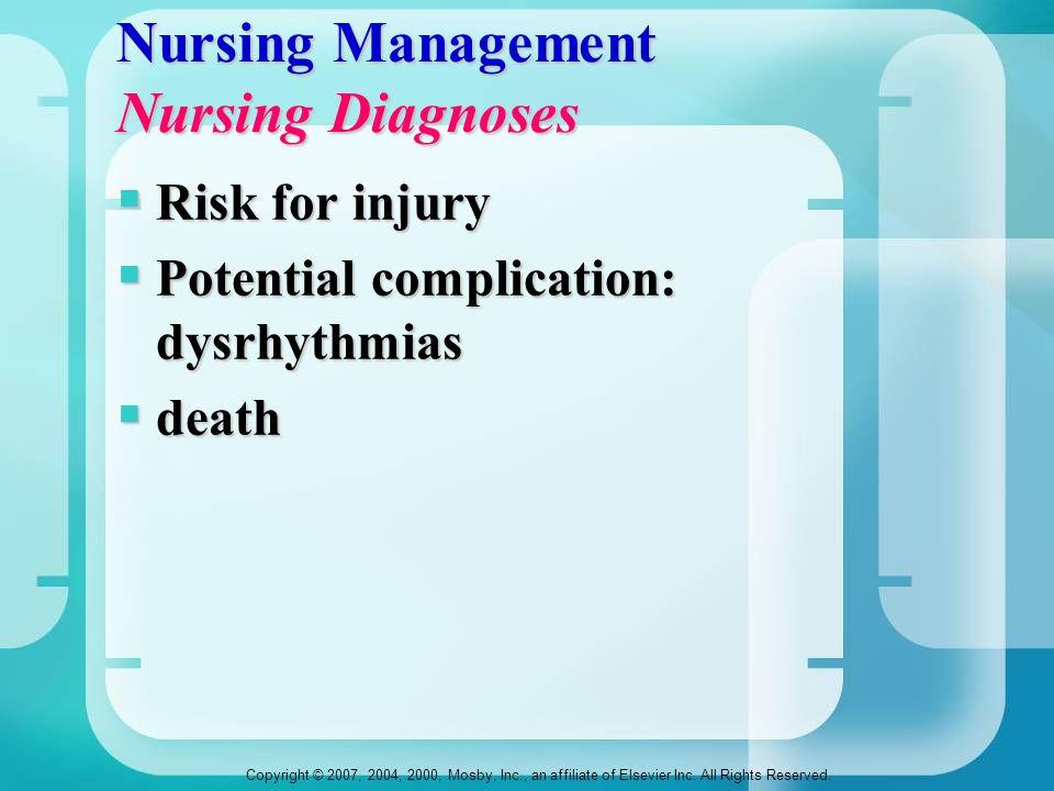 Nursing Management Nursing Diagnoses